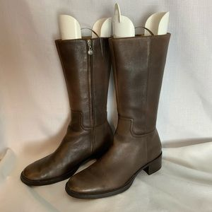 Rockport brown leather boots size 5.5